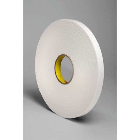 3M Double Coated Polyethylene Foam Tape 4466 White, 3/4 in x 36