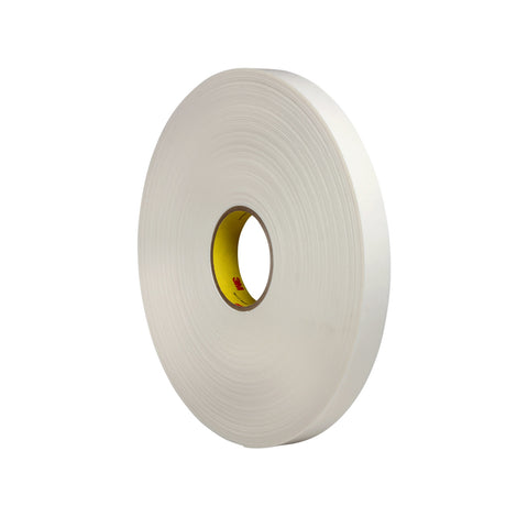 3M Double Coated Polyethylene Foam Tape 4462 White, 1 in x 72 yd