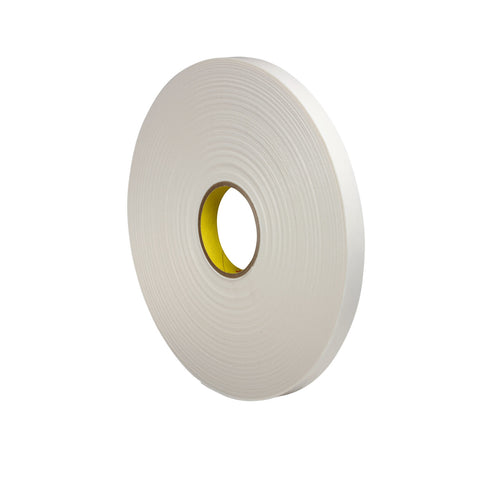 3M Double Coated Polyethylene Foam Tape 4462 White, 3/4 in x 72