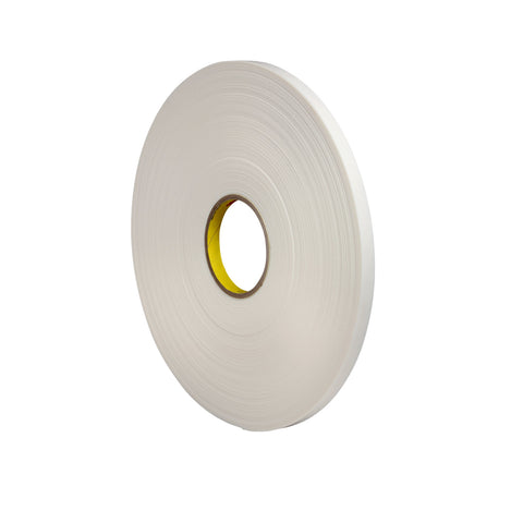 3M Double Coated Polyethylene Foam Tape 4462 White, 1/2 in x 72