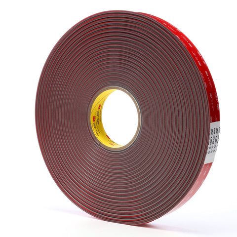 3M VHB Tape 4956F Gray, 62 mil, 1 in x 36 yd, 9 per case