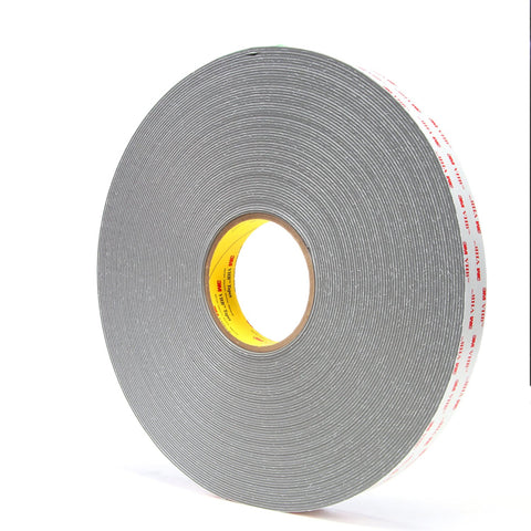 3M VHB Tape 4956 Gray, 62 mil, 1 in x 36 yd, 9 per case