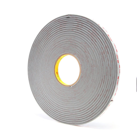 3M VHB Tape 4956 Gray, 1/2 in x 36 yd 62 mil, 18 per case