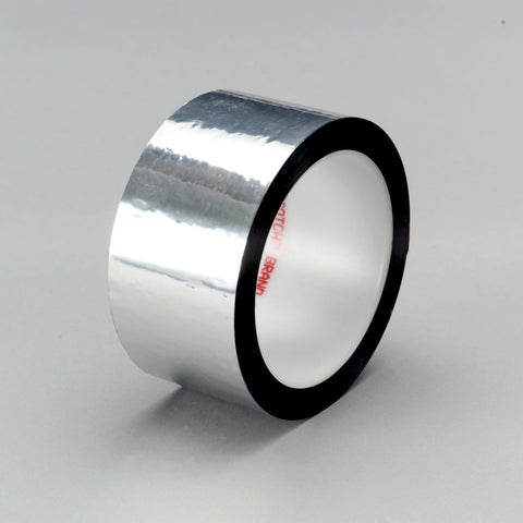 3M Polyester Film Tape 850 Silver, 1 1/2 in x 72 yd 1.9 mil, 24