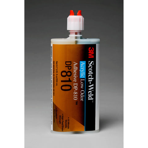 3M Scotch-Weld Low Odor Acrylic Adhesive DP810 Tan DuoPak 200 mL