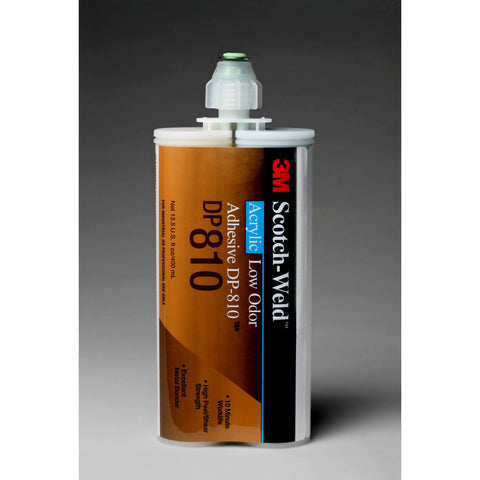 3M Scotch-Weld Low Odor Acrylic Adhesive DP810 Tan, 400 mL