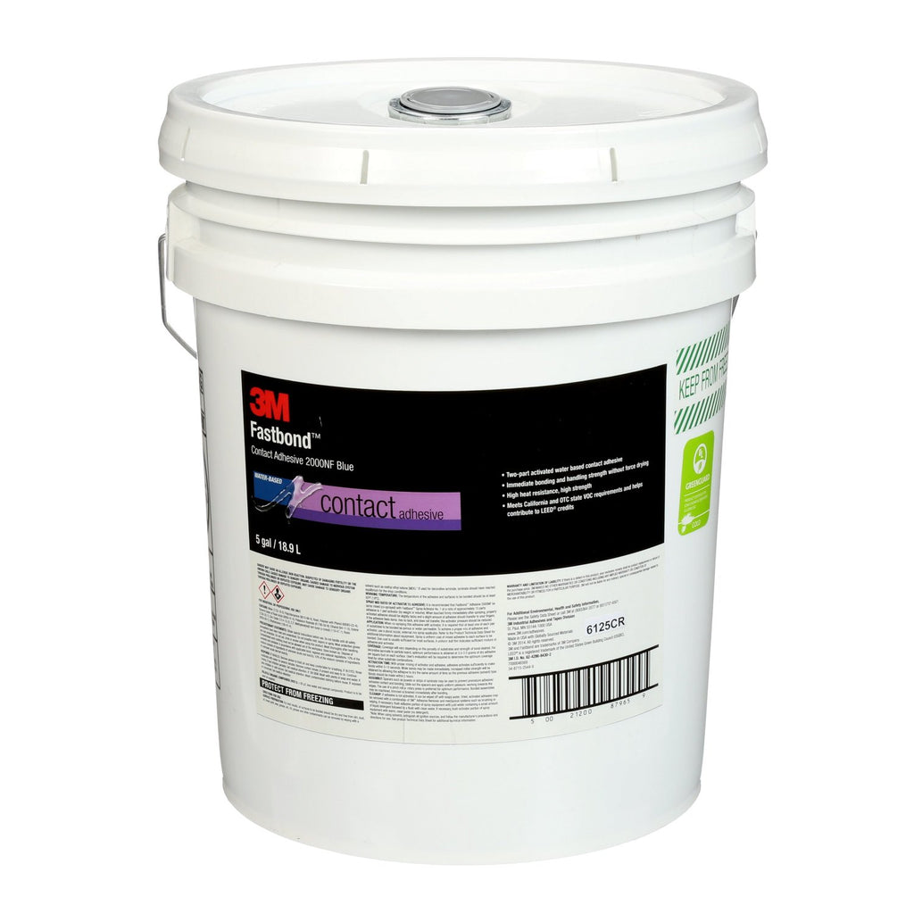3M Fastbond Contact Adhesive 2000NF Neutral, 5 gal box
