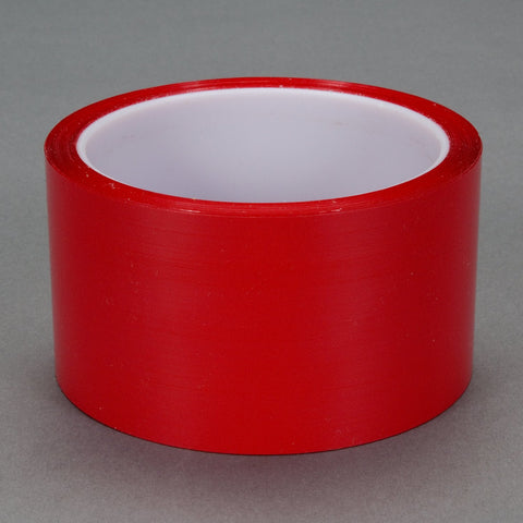 3M Polyester Film Tape 850 Red, 3 in x 72 yd 1.9 mil, 12 per cas