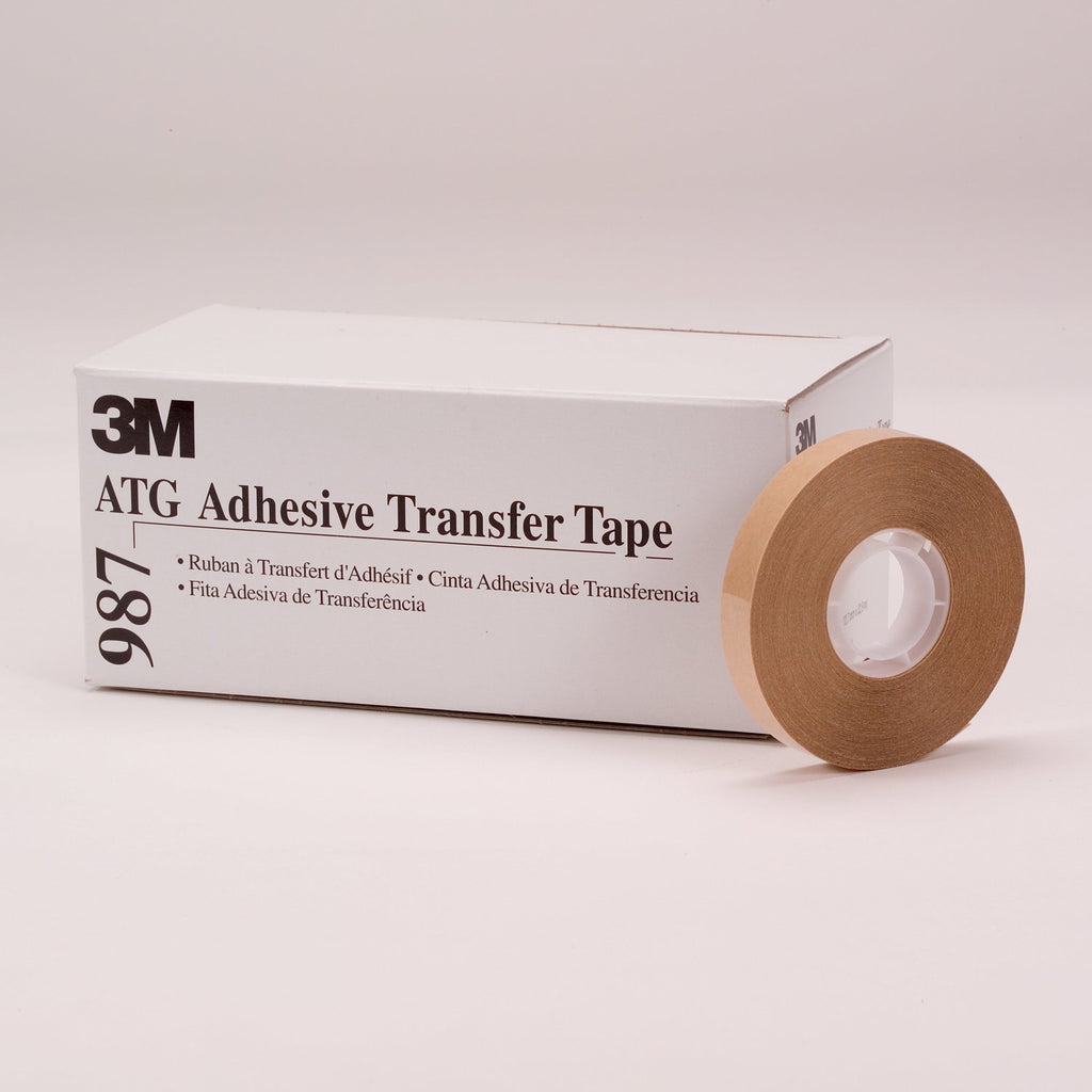3M ATG Adhesive Transfer Tape 987, 0.25 in x 36 yd 2.0 mil, 72 p