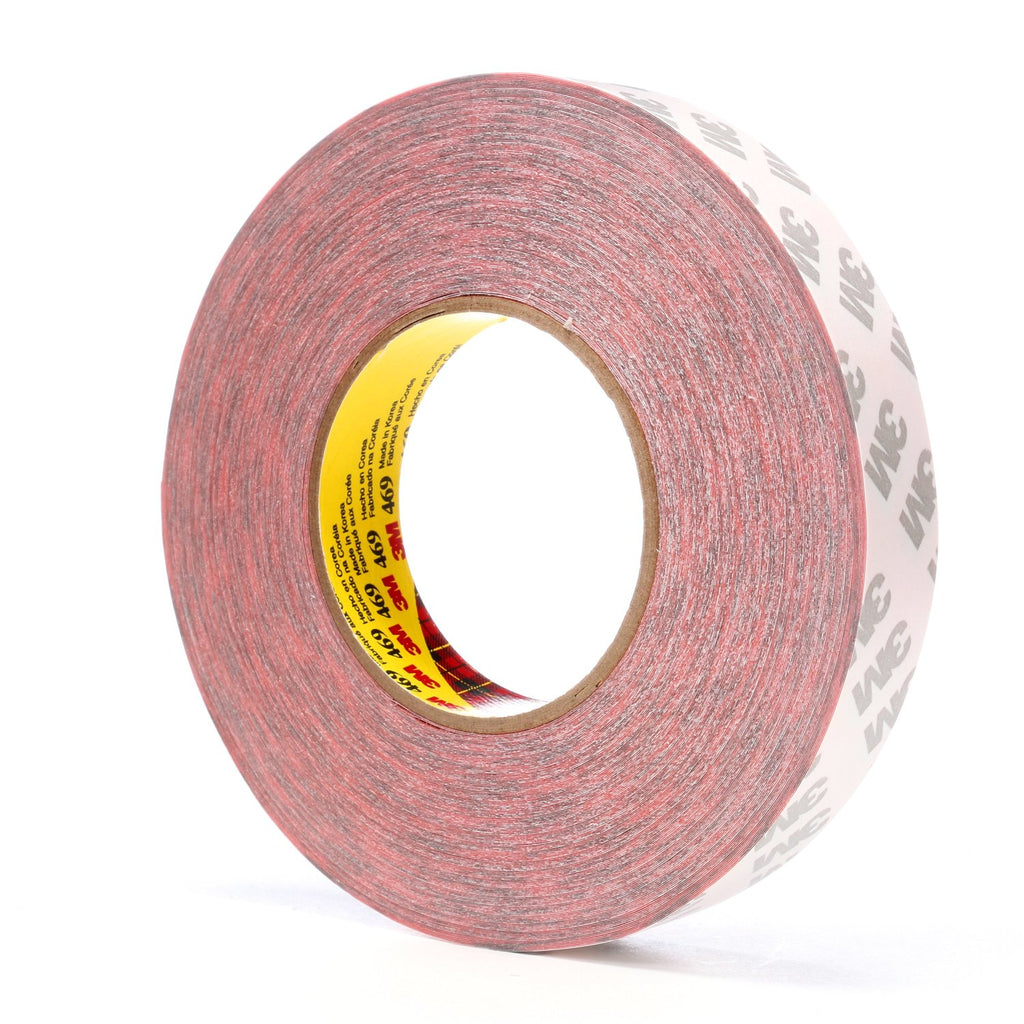 3M Double Coated Tape 469 Red, 1 in x 60 yd, 36 rolls per case B