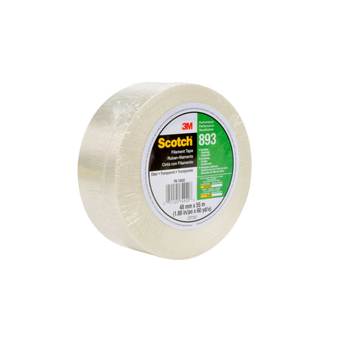 Scotch Filament Tape 893 Clear, 12 mm x 330 m