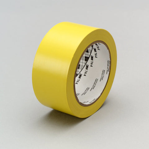 3M General Purpose Vinyl Tape 764 Yellow, 1 in x 36 yd 5.0 mil,
