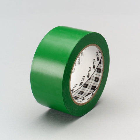 3M General Purpose Vinyl Tape 764 Green, 1 in x 36 yd 5.0 mil, 3