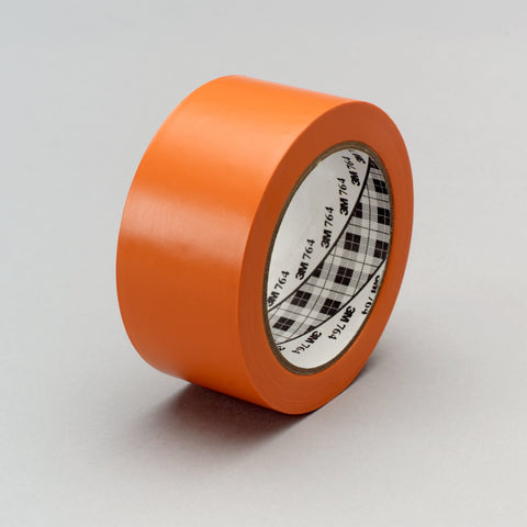 3M General Purpose Vinyl Tape 764 Orange, 1 in x 36 yd 5.0 mil,