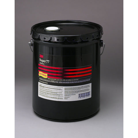 3M Super 77 Spray Adhesive, 5 gal, 1 per case, No California