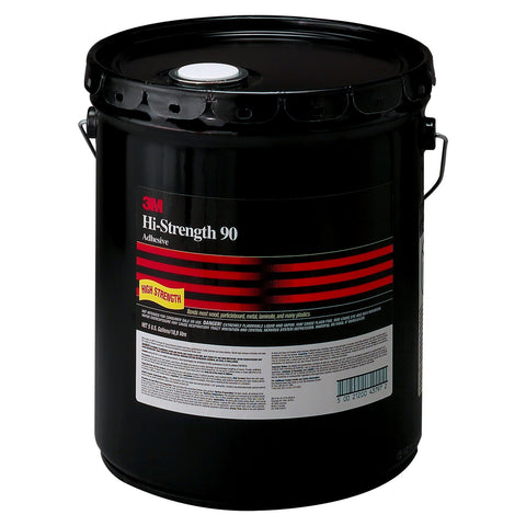 3M Hi-Strength 90 Spray Adhesive Clear, 5 gal Pail, 1 pail per