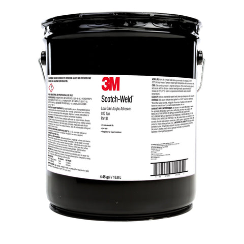 3M Scotch-Weld Low Odor Acrylic Adh 810 Grn Base, 4.4 gal Pail