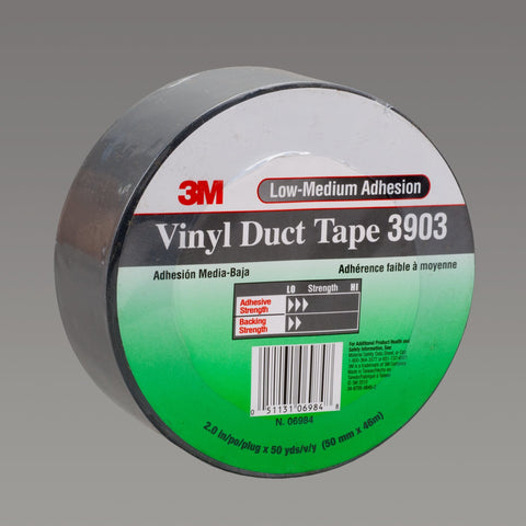 3M Vinyl Duct Tape 3903 Gray, 49 in x 50 yd 6.3 mil, 2 per case