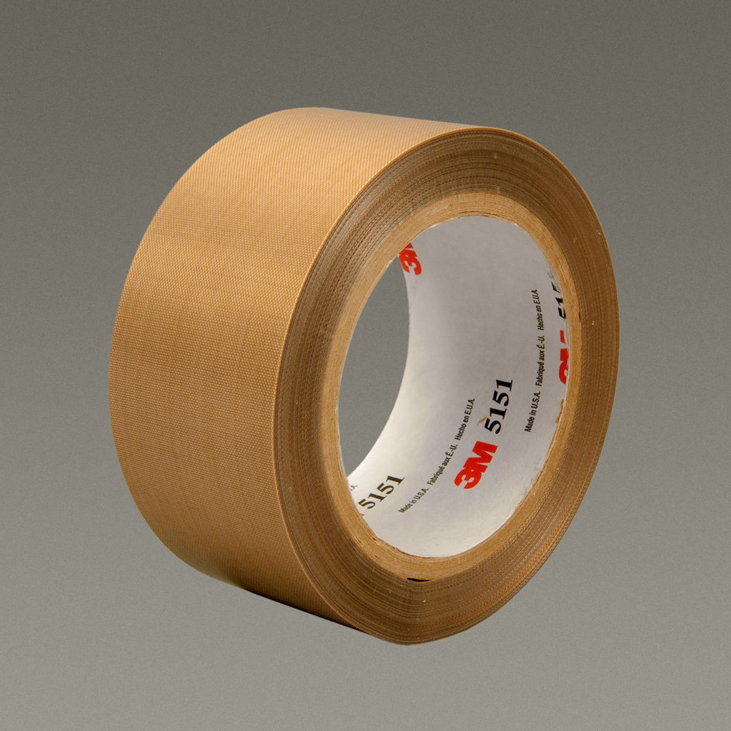3M General Purpose PTFE Glass Cloth Tape 5151 Light Brown, 1 1/2