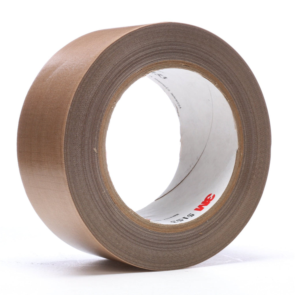 3M General Purpose PTFE Glass Cloth Tape 5153 Light Brown, 2 in