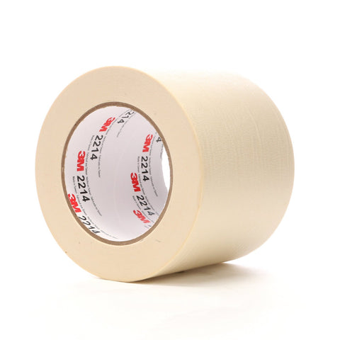 3M Paper Masking Tape 2214 Natural, 96 mm x 55 m 5.3 mil, 8 per
