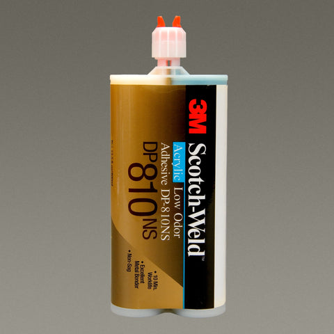 3M Scotch-Weld Low Odor Acrylic Adhesive DP810 Tan, 200 mL