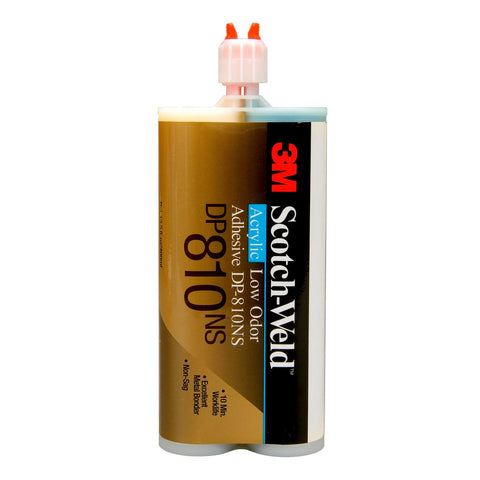 3M Scotch-Weld Low Odor Acrylic DP810NS Tan Duo-Pak, 400 ml