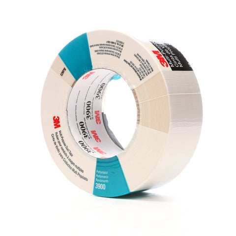 3M Duct Tape 3900 White, 48 mm x 54.8 m 7.7 mil, 24 per case Ind