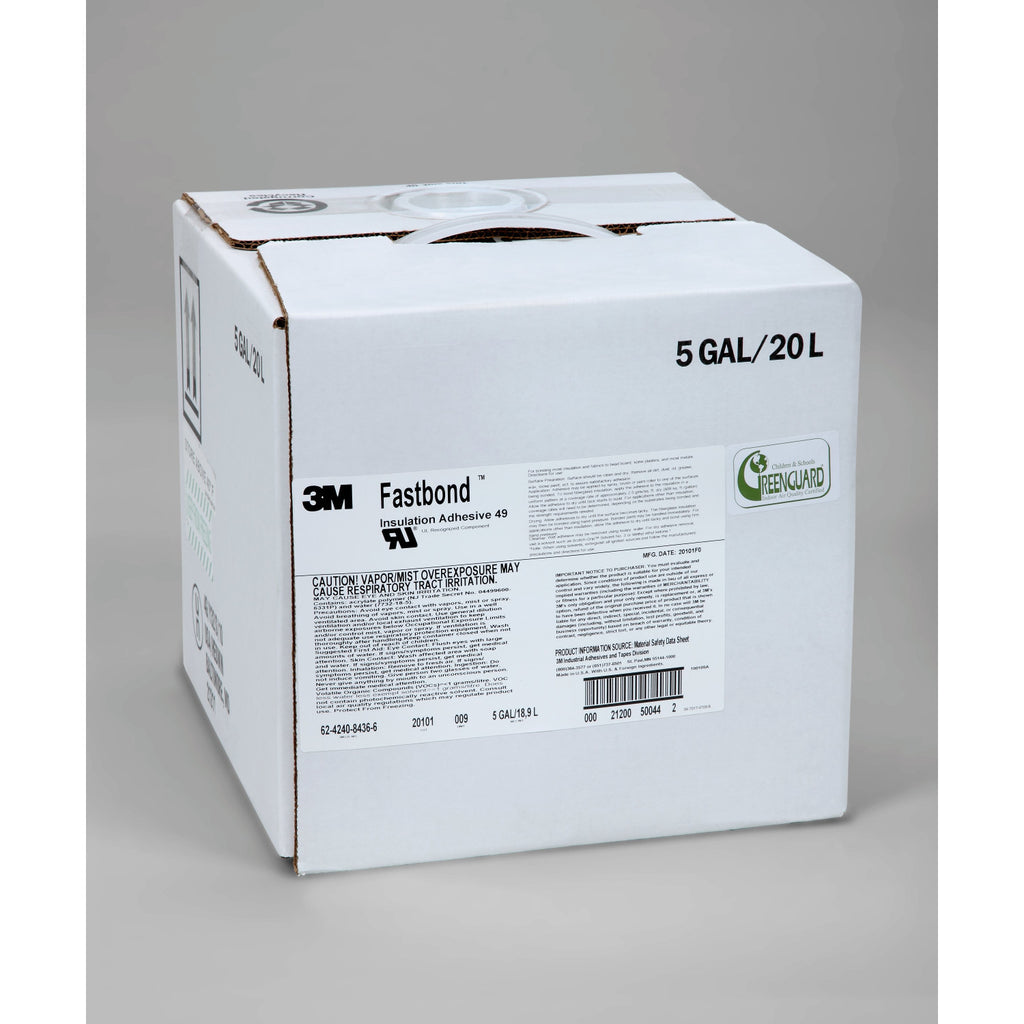 3M Fastbond Insulation Adhesive 49, 5 gal box, 1 per case