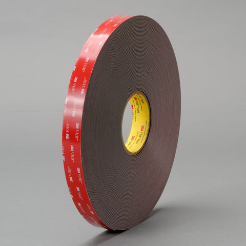 3M VHB Tape 4979F Black, 1/4 in x 36 yd 62 mil, 36 per case Bulk