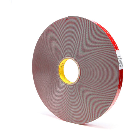 3M VHB Tape 4991 Gray, 91 mil, 1 in x 36 yd, 9 per case Bulk