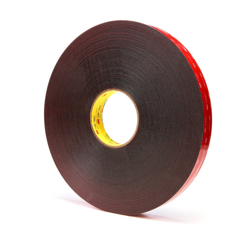 3M VHB Tape 5925 Black, 25 mil, 1 in x 72 yd 25 mil, 9 per case