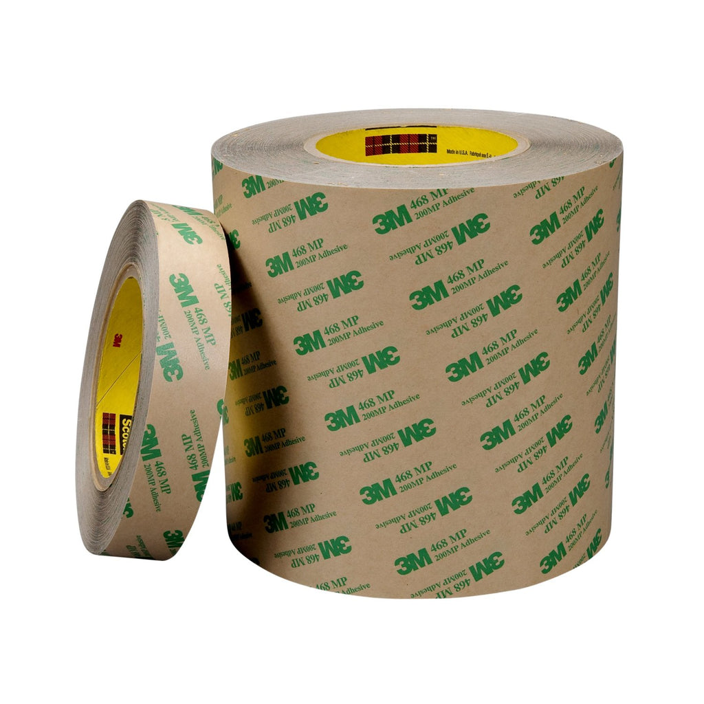 3M Adhesive Transfer Tape 468MP Clear, 60 in x 60 yd 5.0 mil, 1