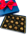 12 Piece Dark Chocolate Champagne Truffles