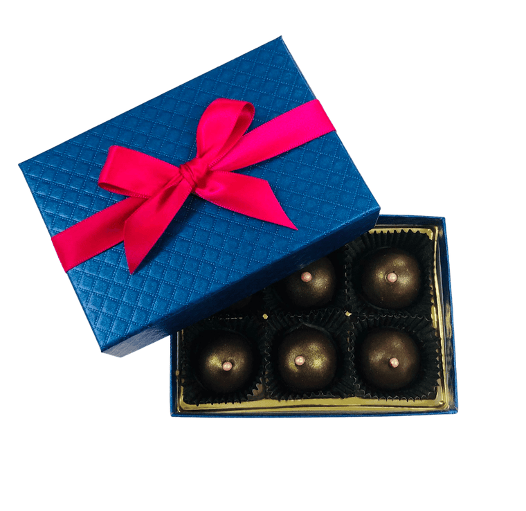 6 Piece Dark Chocolate Champagne Truffles