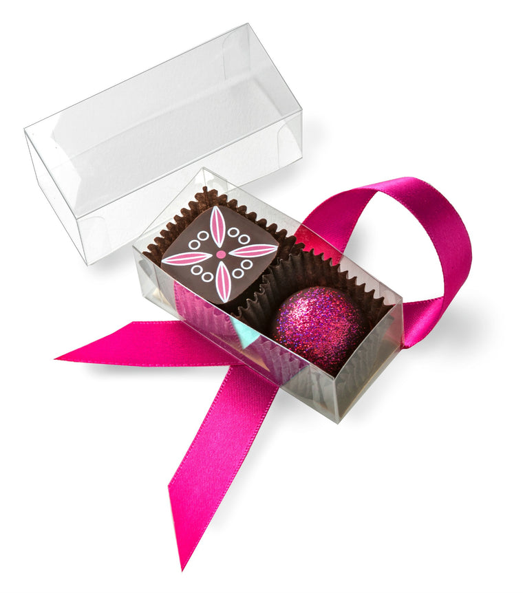 2 Piece Pink Cacao Favor