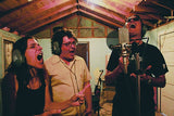 Nina Katchadourian, Adam Bork, and David Beebe recording a Marfa Jingle