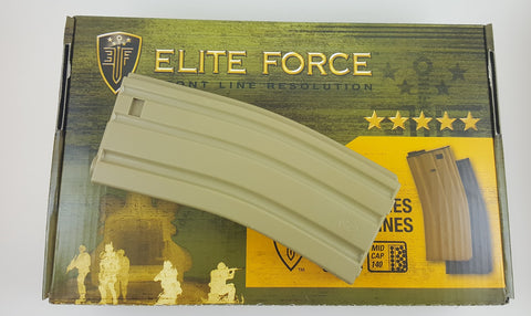 Elite Force 140CT Universal M4/M16 Airsoft Midcap Magazine (Tan)