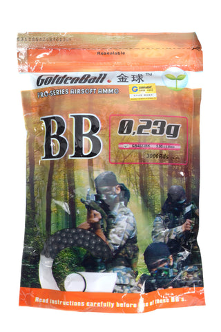 GoldenBall 0.23g BB 3000CT Bag (BLK)