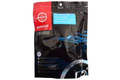 GoldenBall 0.25g BB 3000CT Bag BLK/WHITE