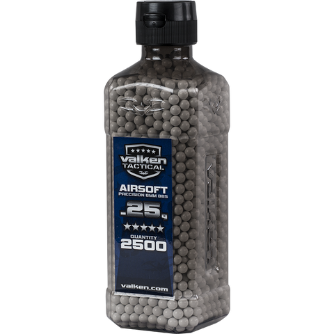 Valken Tactical 0.25g BBs 2500CT Bottle (WHITE)
