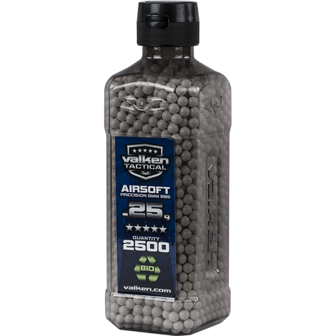 Valken Tactical 0.25g BIO BBs 2500CT Bottle (WHITE)