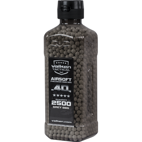 Valken Tactical 0.40g BBs 2500CT Bottle (GREY)