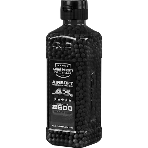 Valken Tactical 0.43g BBs 2500CT Bottle (BLACK)