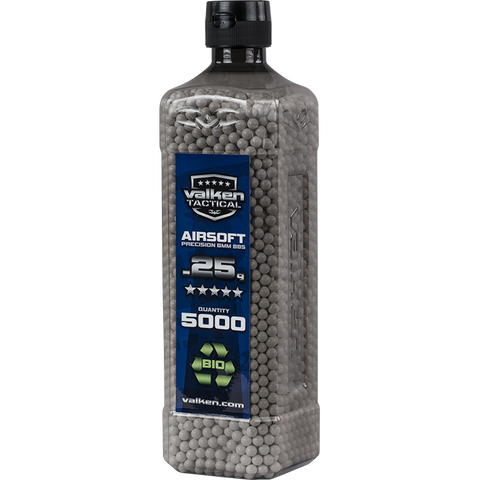 Valken Tactical 0.25g BIO BBs 5000CT Bottle (WHITE)