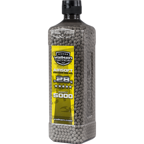 Valken Tactical 0.28g BBs 5000CT Bottle (WHITE)