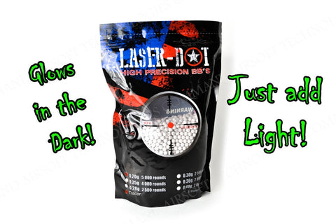 Laserdot Precision Competition Grade Tracer / Glow in the Dark BBs .20g