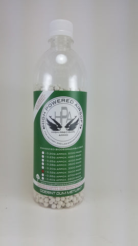 High Powered Airsoft (HPA) 0.32g BIO BBs 3000CT Bottle