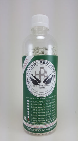 High Powered Airsoft (HPA) 0.40g BIO BBs 2200CT Bottle