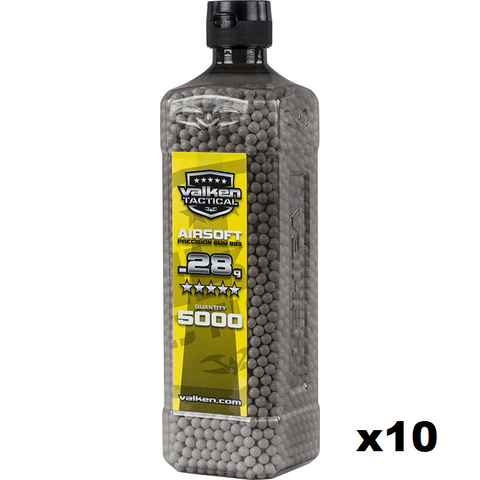 Valken Tactical 0.28g BBs 5000CT Bottle 10pk (SPECIAL)